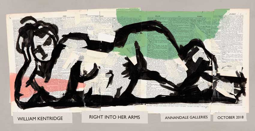 Right into her arms by William Kentridge at Annandale Galleries