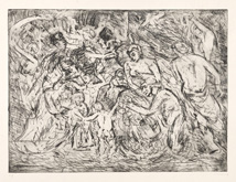 Leon Kossoff in the Annandale Galleries stockroom