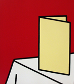 Patrick Caulfield in the Annandale Galleries stockroom