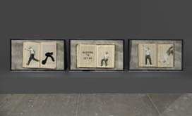 No, IT IS - Triptych of three flipbook films: Workshop Receipts, The Anatomy of Melancholy, Practical Enquiries by William Kentridge at Annandale Galleries