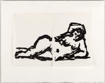Rebus: Nude by William Kentridge at Annandale Galleries