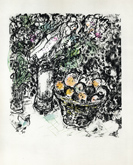 Couple au Panier de Fruits by Marc Chagall at Frances Keevil Gallery
