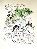 Marc Chagall in the Annandale Galleries stockroom
