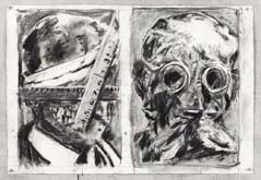 Untitled (Drawing from Wozzeck 32) by William Kentridge at Annandale Galleries