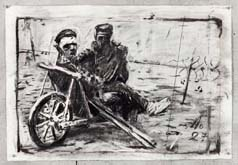 Untitled (Drawing from Wozzeck 8) by William Kentridge at Annandale Galleries