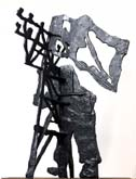 Untitled, (Shadow Figure IV) by William Kentridge at Annandale Galleries