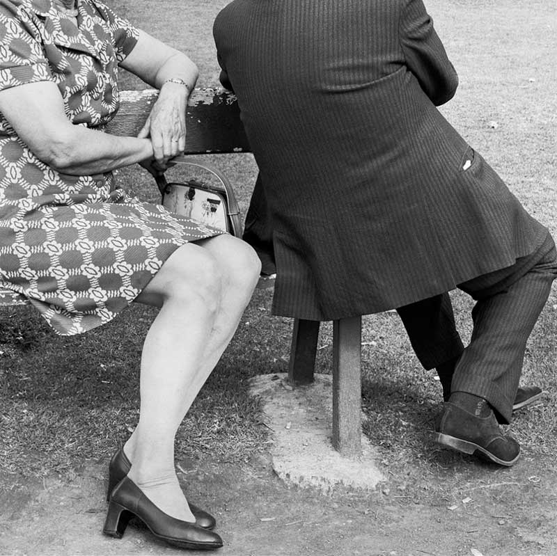 Couple on a Sunday afternoon at Zoo Lake, Johannesburg. 1975 (2_24182) by David Goldblatt at Annandale Galleries